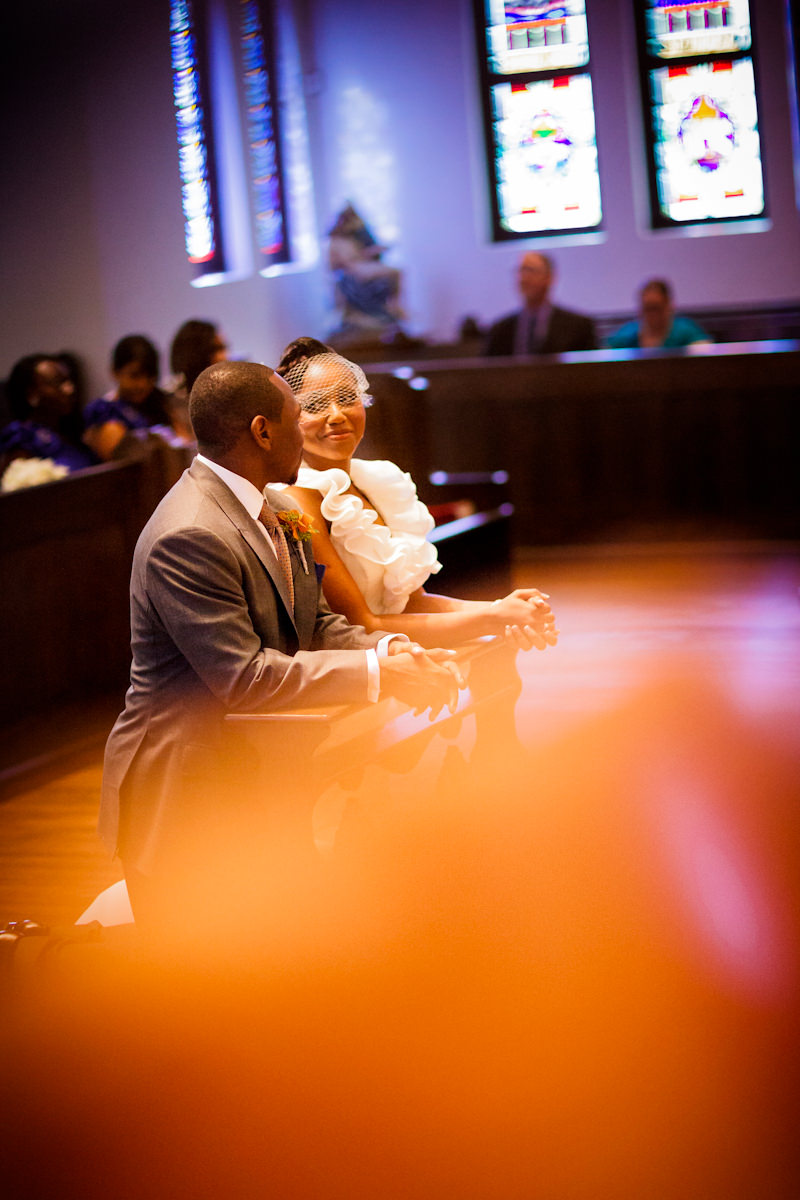 Uche and Collins' wedding photos from the Hobby Center in Houston, Texas