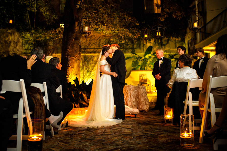 E'Lane and Baker's wedding at Montegut House in New Orleans, Louisiana.