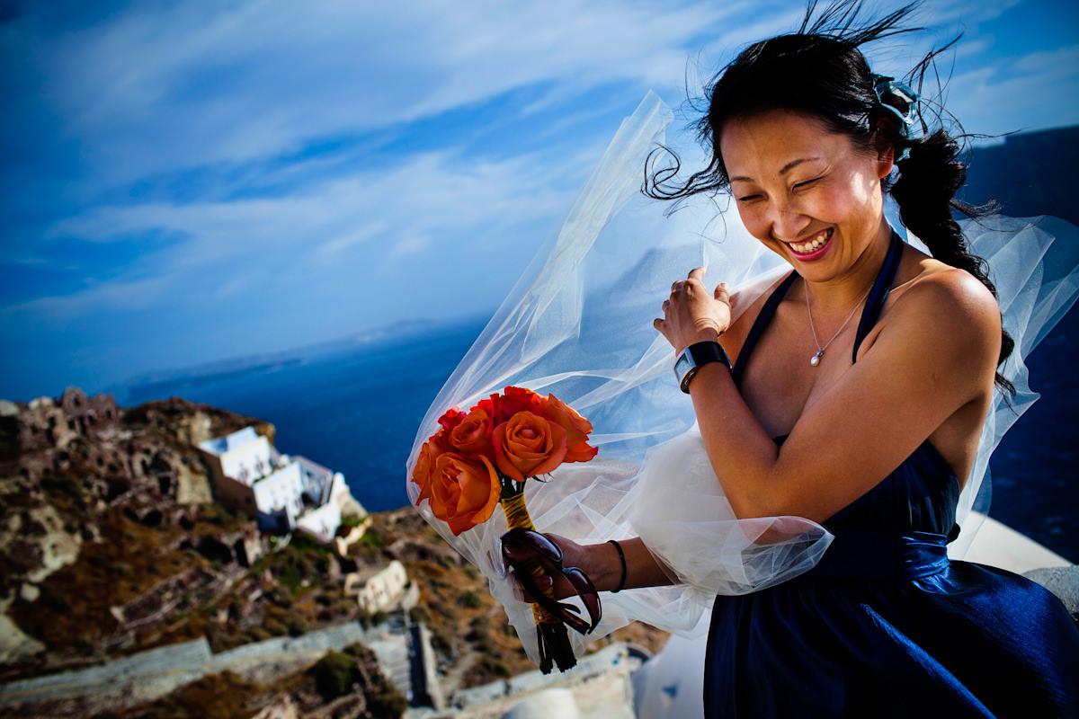 Tina and Clinton's wedding in Santorini, Greece