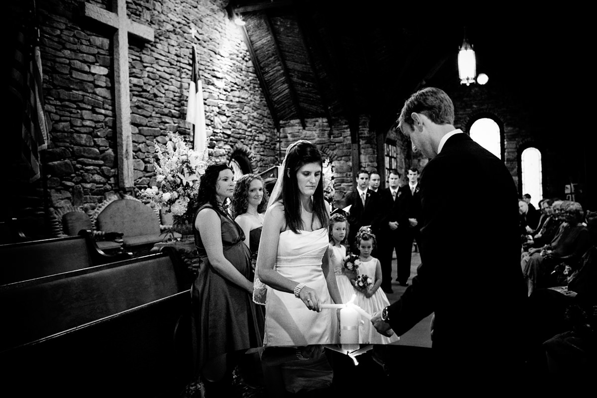 Candle-lighting ceremony during North Carolina wedding