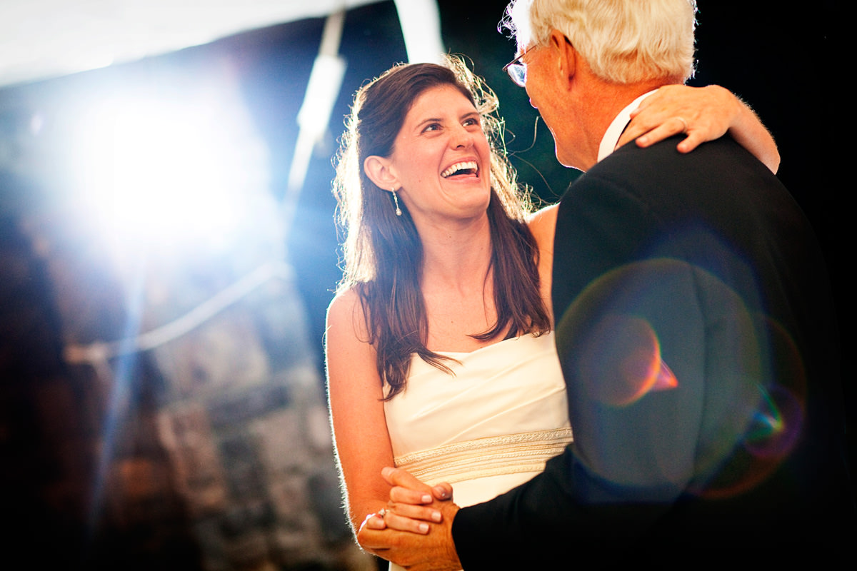 Bride dances with her father in North Carolina wedding