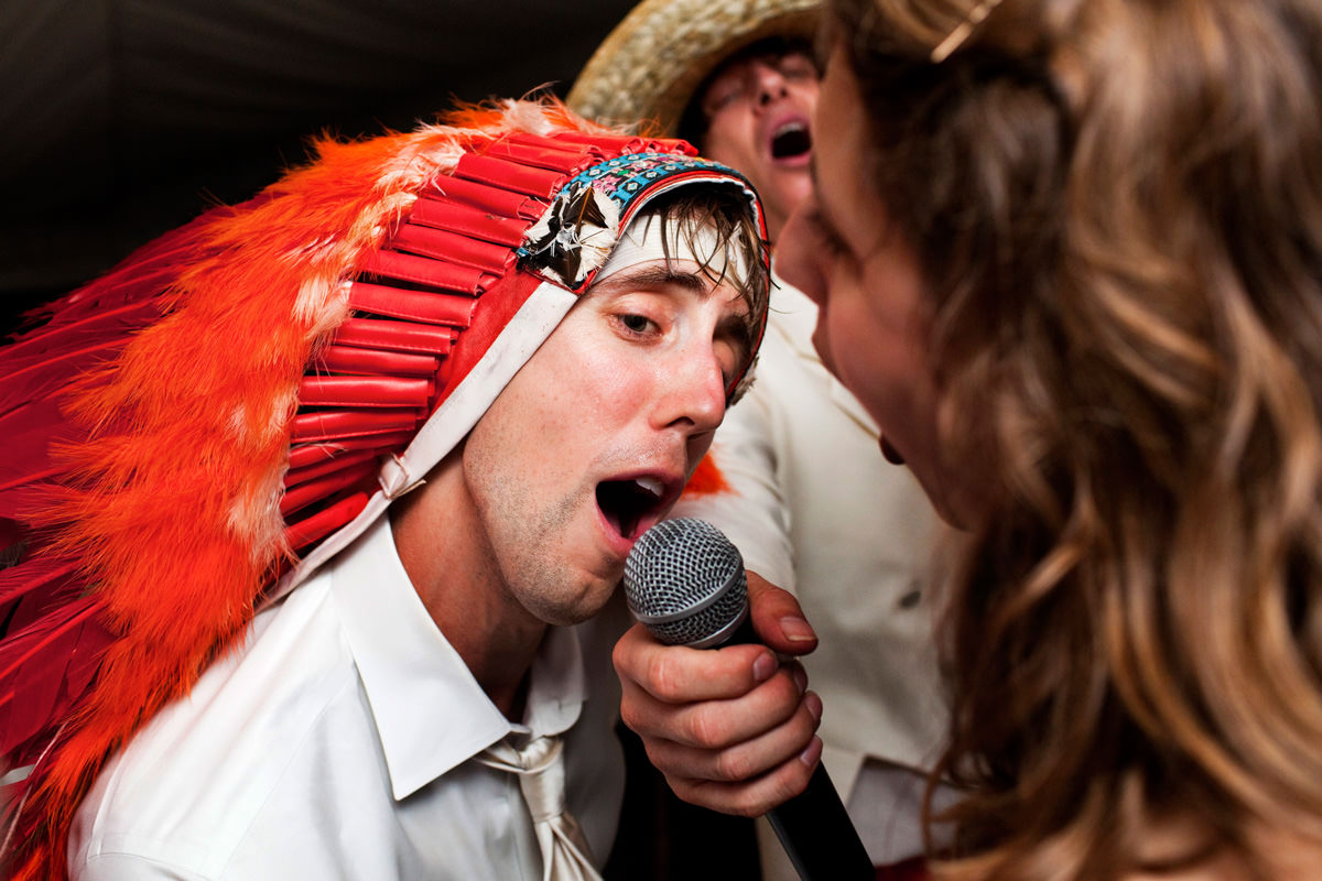 Bridegroom has fun on the dancefloor