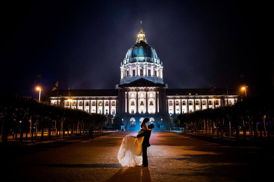 Palace Of Fine Arts Wedding Photos San Francisco