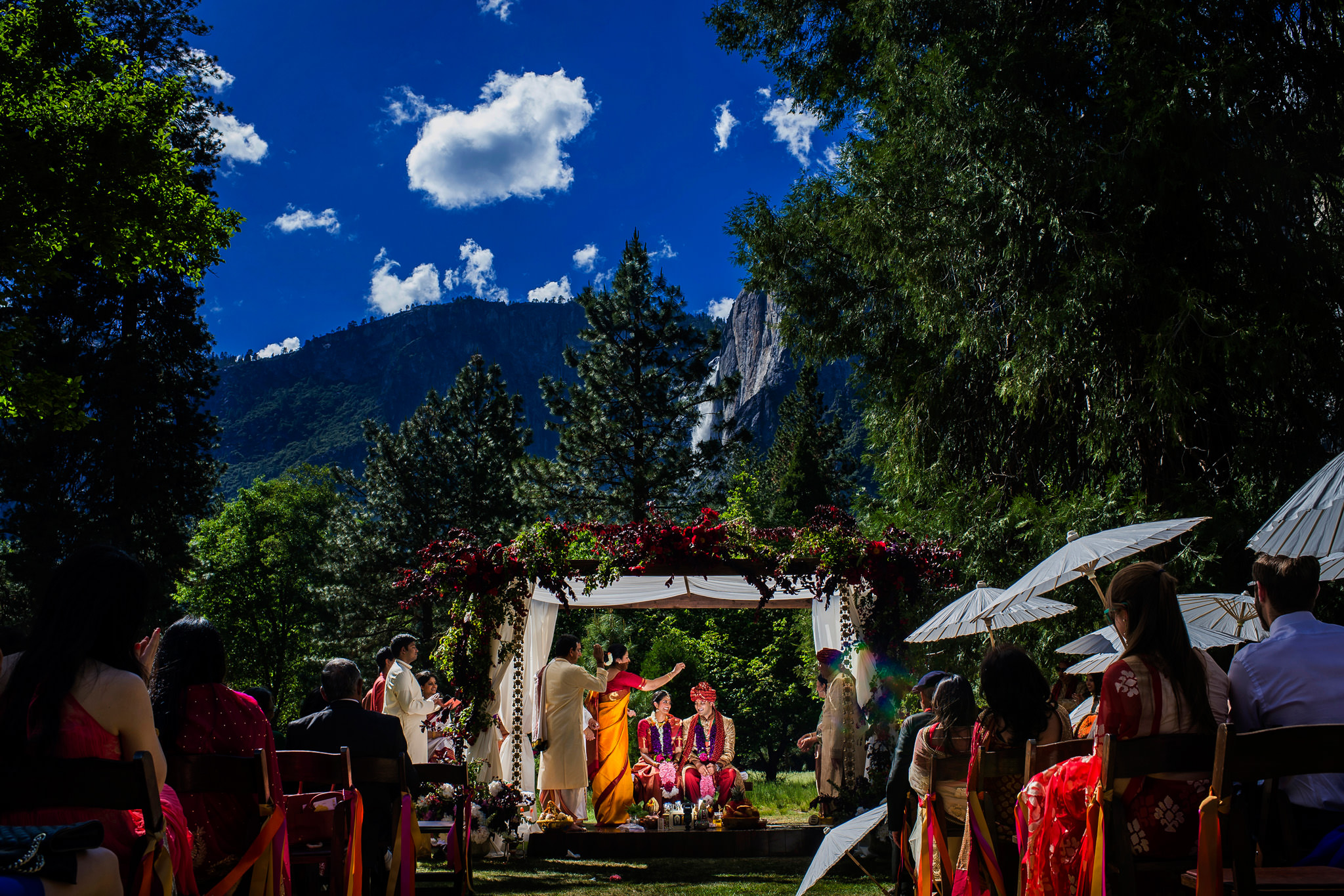 Dhanya and Nayan's wedding at Ahwahnee Hotel in Yosemite National Park, CA.