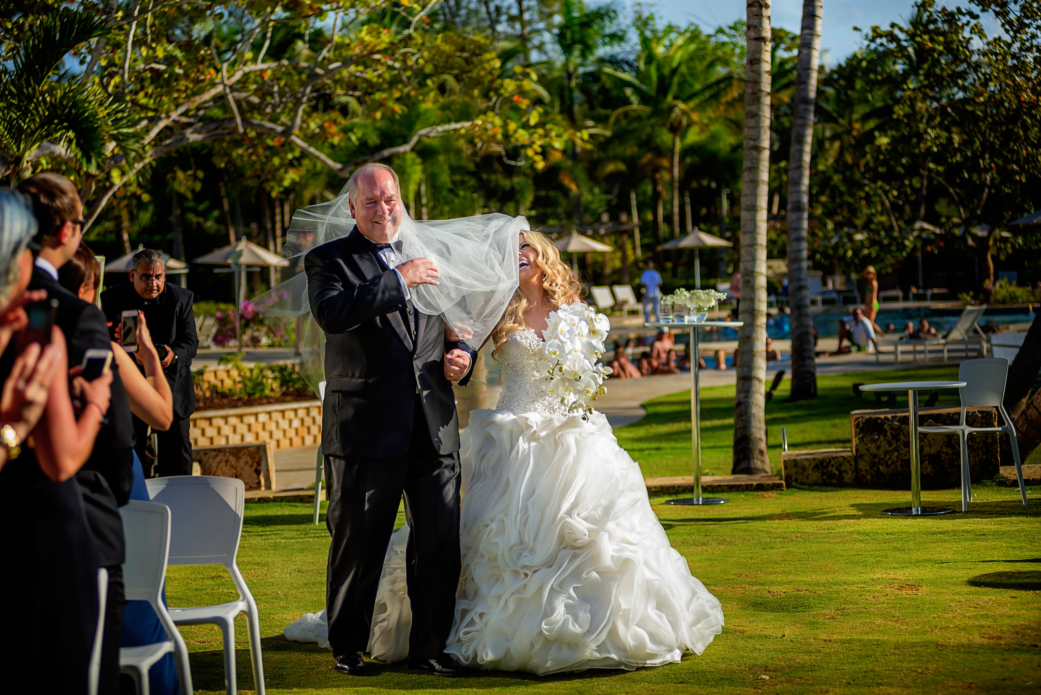 Lauren and Brad's wedding at the Dorado Beach Ritz-Carlton in Puerto Rico.