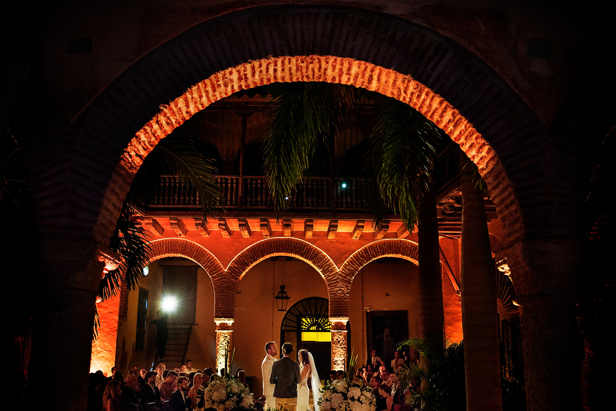 Chandra and Sam's wedding in Cartagena, Colombia.