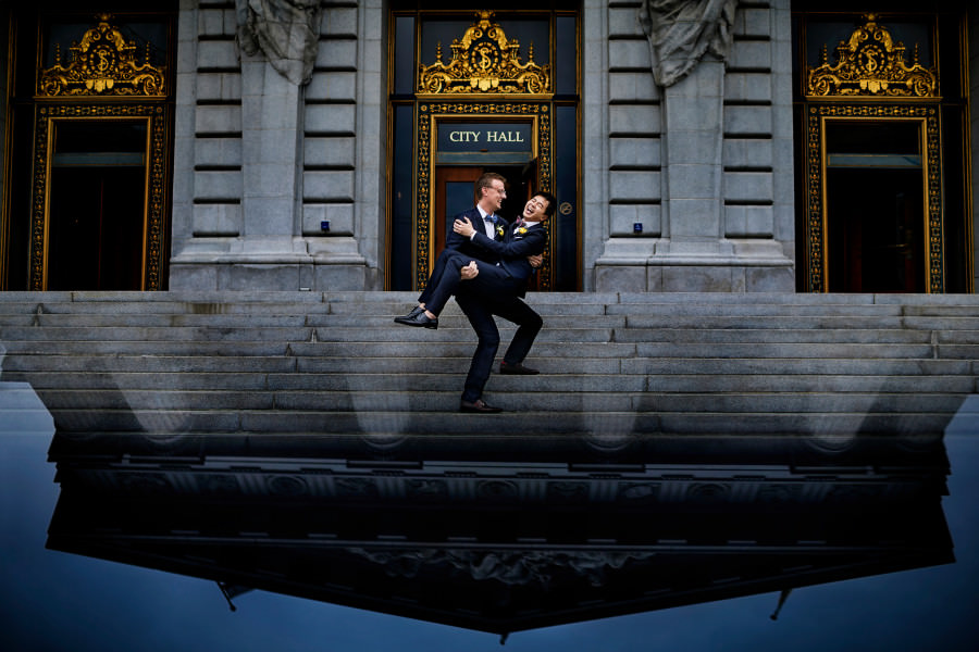 Joe and Milles's wedding photos at the City Hall in San Francisco, California