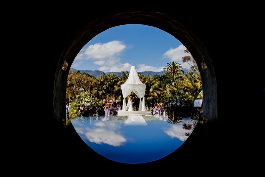 Lauren and Deron's wedding at the Four Seasons Resort The Biltmore in Santa Barbara, California.