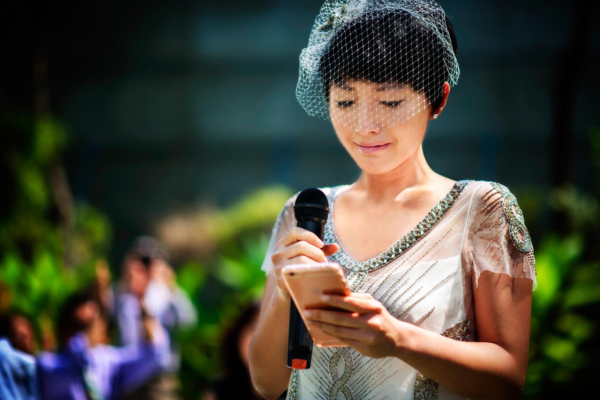 Emotional bride at Sukhothai Bangkok