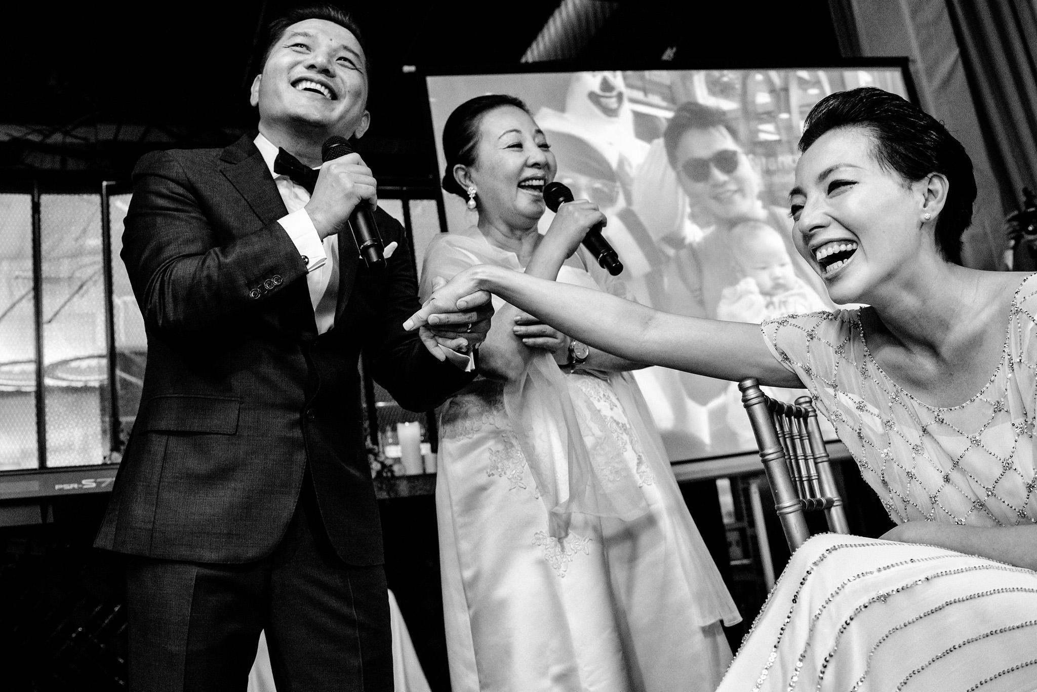 Groom toasts bride Hansar Bangkok
