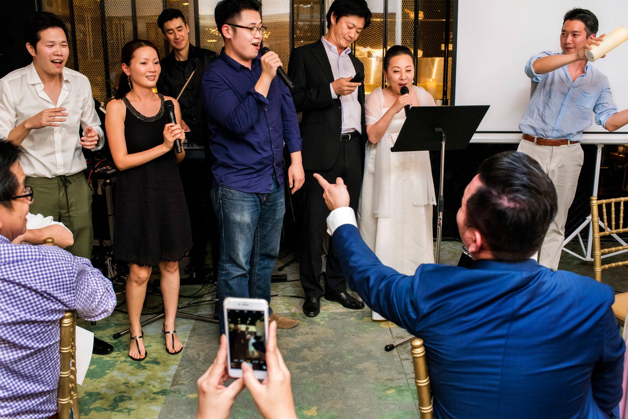 Karaoke at Bangkok wedding