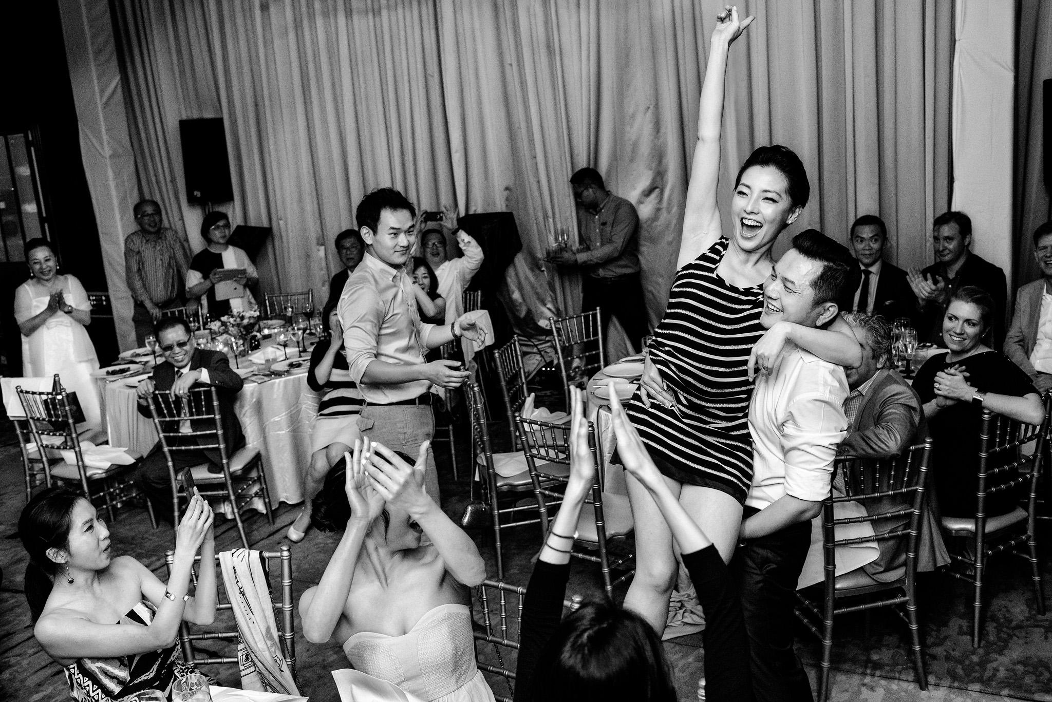 Bride and groom dancing Bangkok