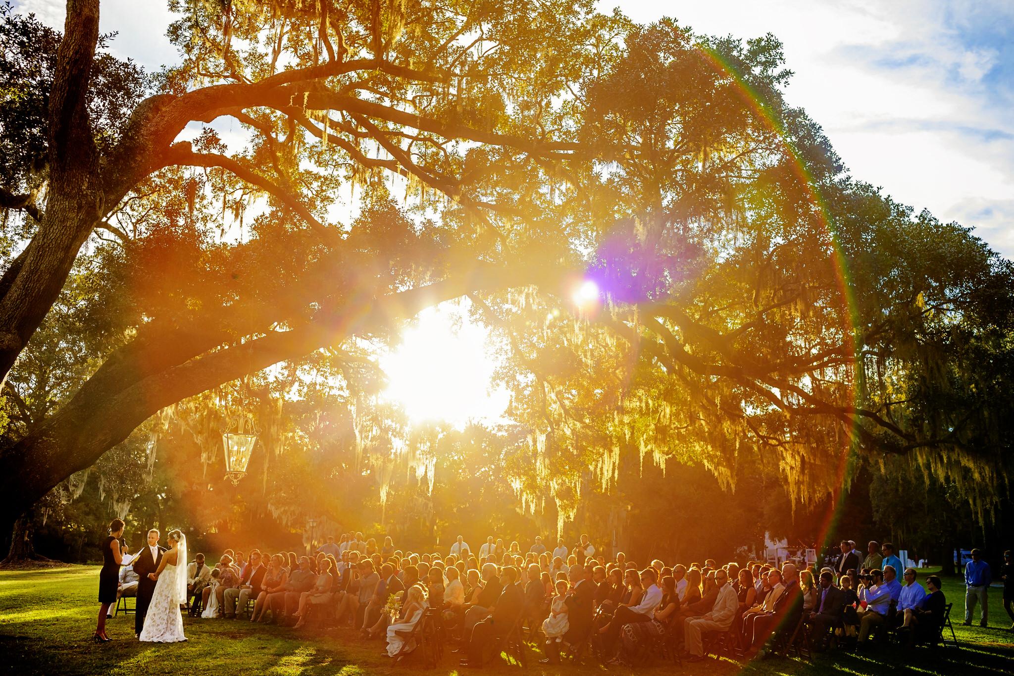 Cori and Kyle's wedding at Old Wide Awake Park in Hollywood, South Carolina.