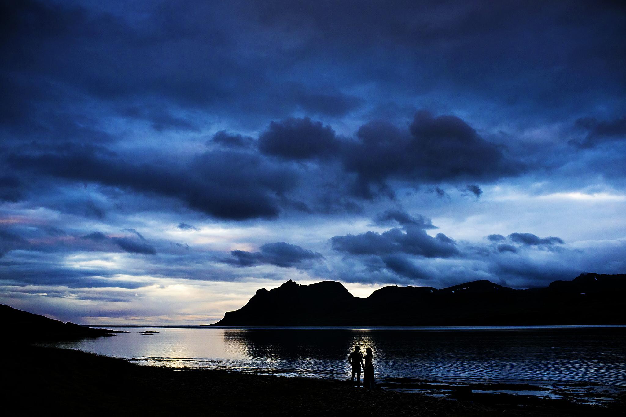 Buffy and Mike's wedding at Hotel Djúpavík in Djúpavík, Iceland.
