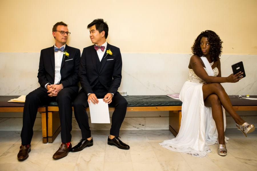 Joe and Miles' wedding at City Hall in San Francisco, CA.