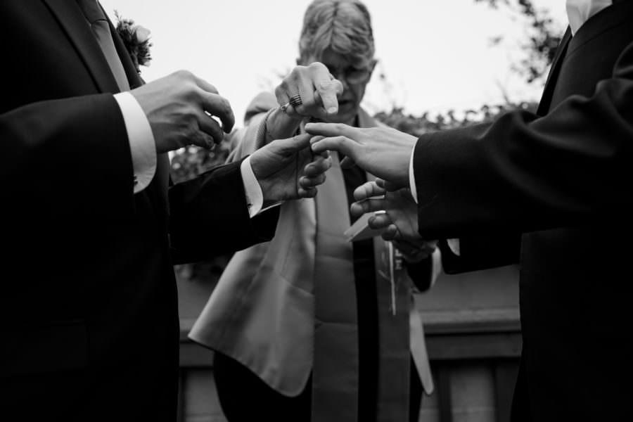 Winston & Brian's wedding day at The Box in San Franciscio, CA.