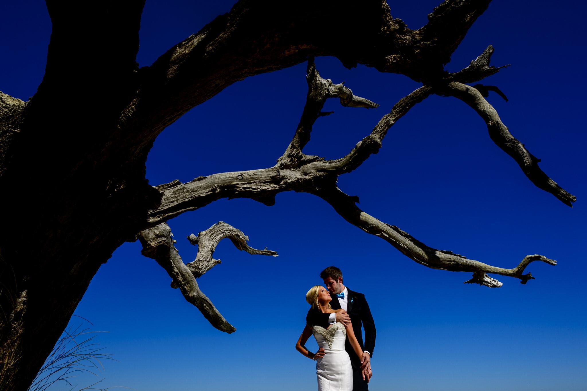 Sarah and Clint's wedding in DeBordieu, South Carolina.