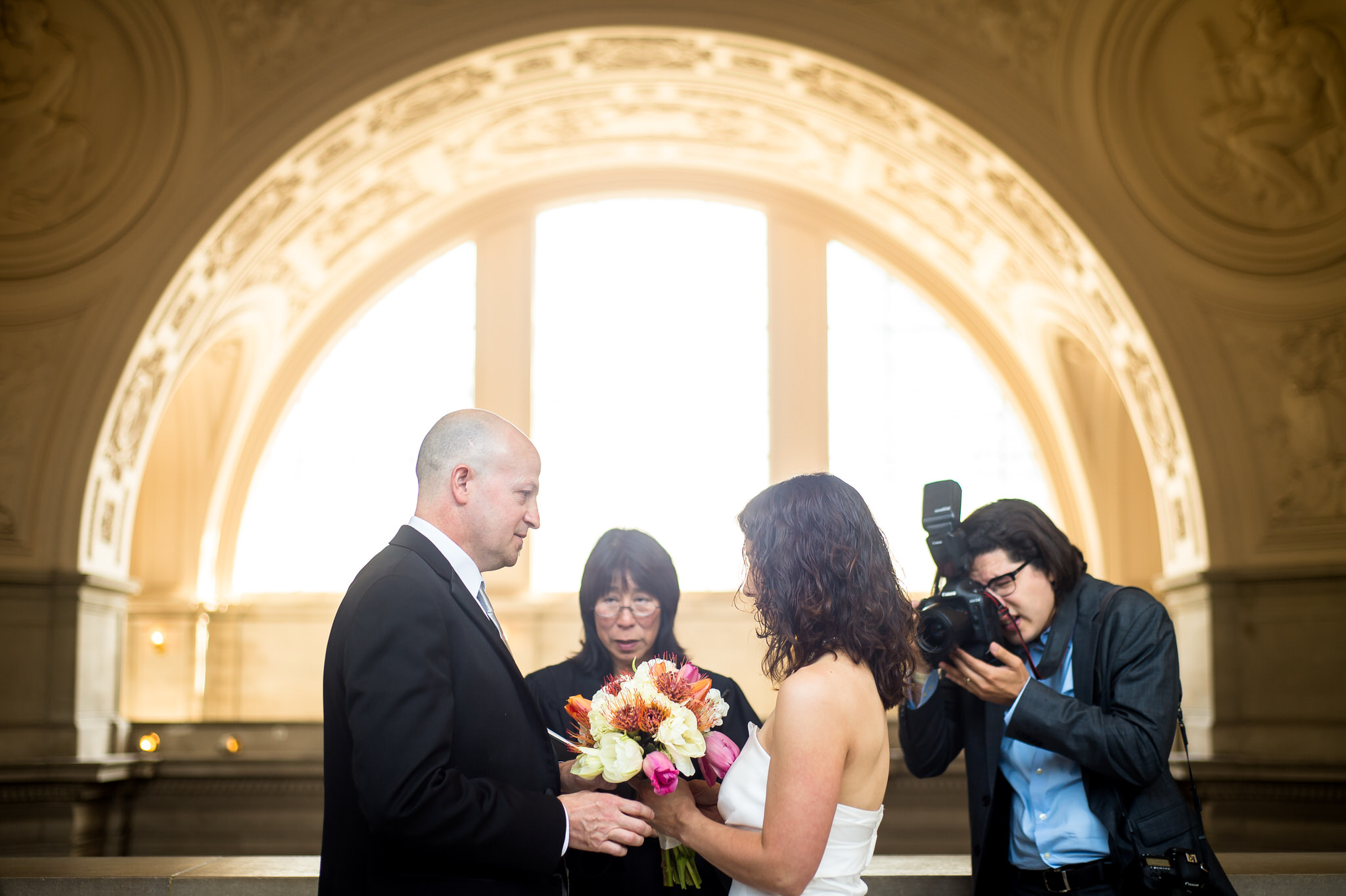 Resi and Troy's wedding at City Hall in San Francisco, CA.