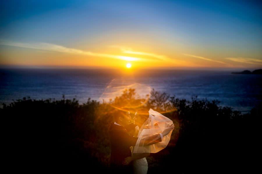 Sunset wedding portrait San Francisco