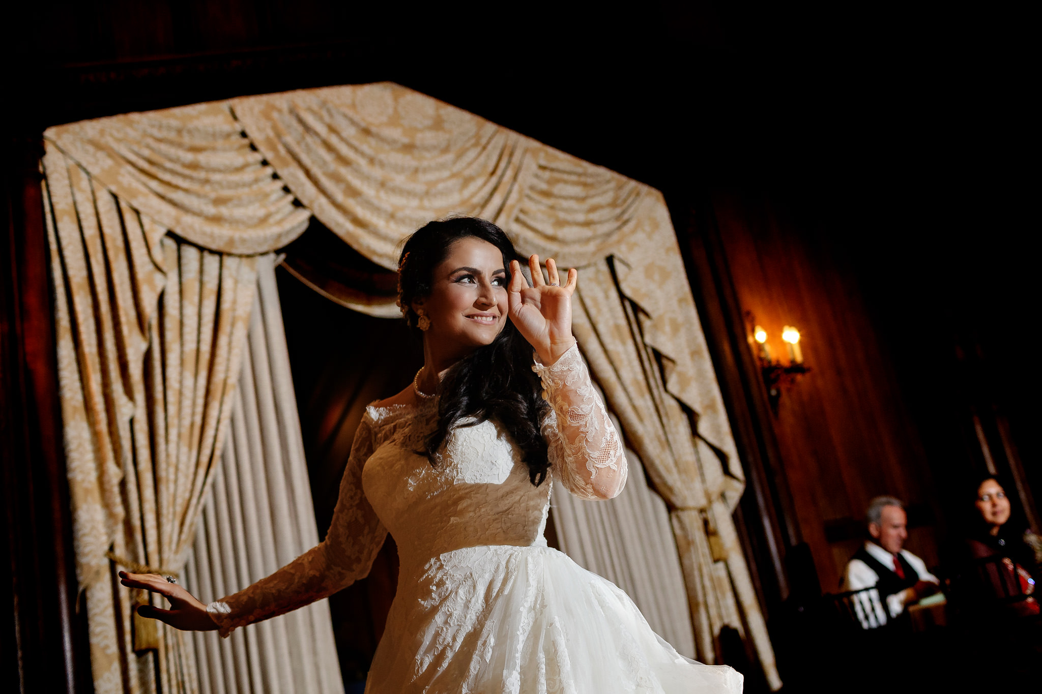 Bride dances