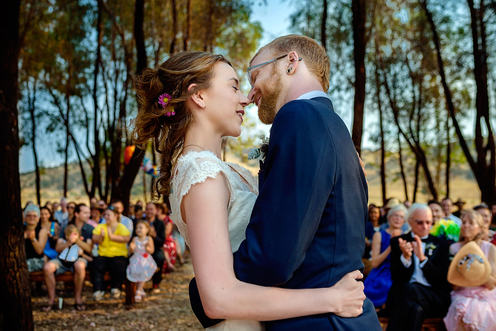 Sarah and Christon's wedding at Bar SZ Ranch in Paicines, California.