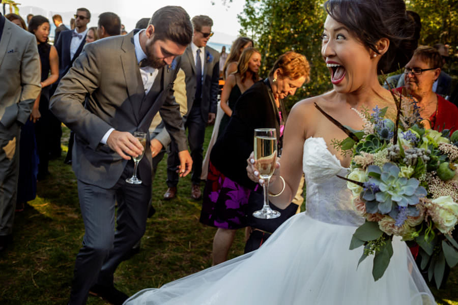 Sophia and Nick's wedding at West Shore Cafe on Lake Tahoe, California.