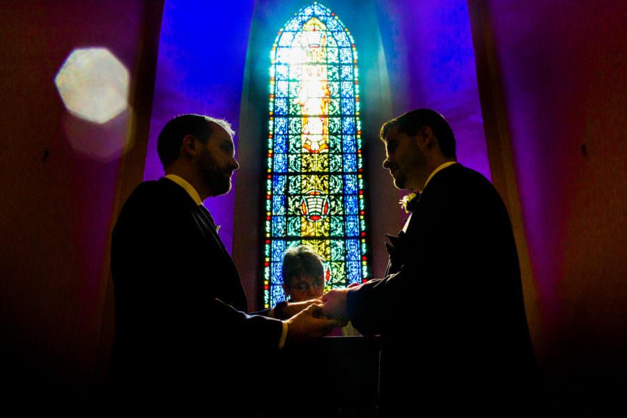 wedding, Chapel of Trinity St Peter's Church, San Francisco, CA.