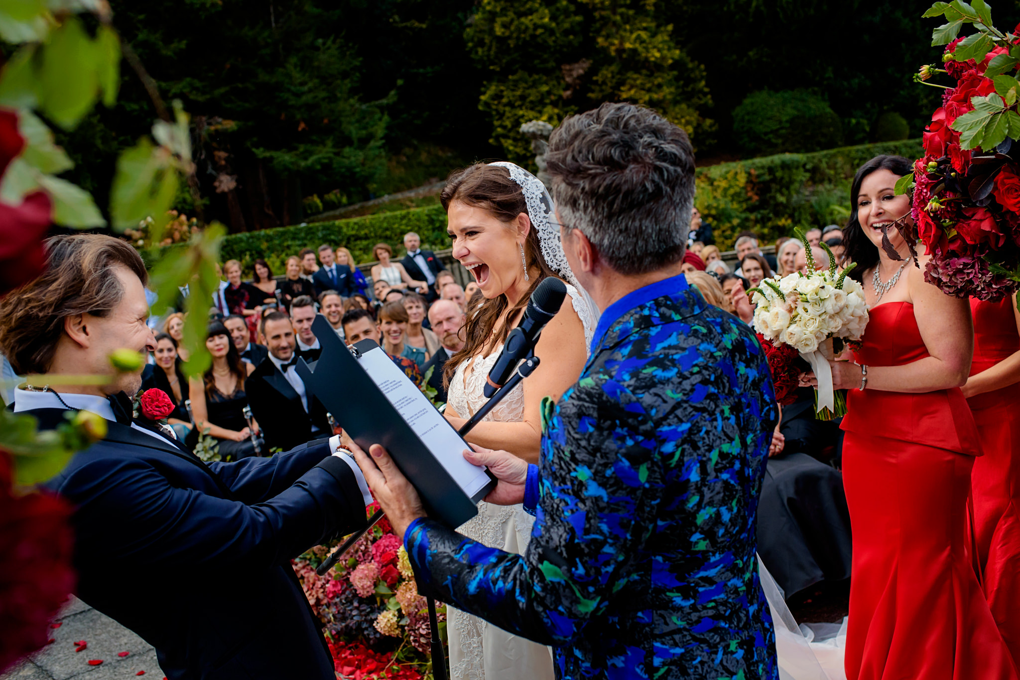 Melissa and Carlo's wedding in Lake Como, Italy.