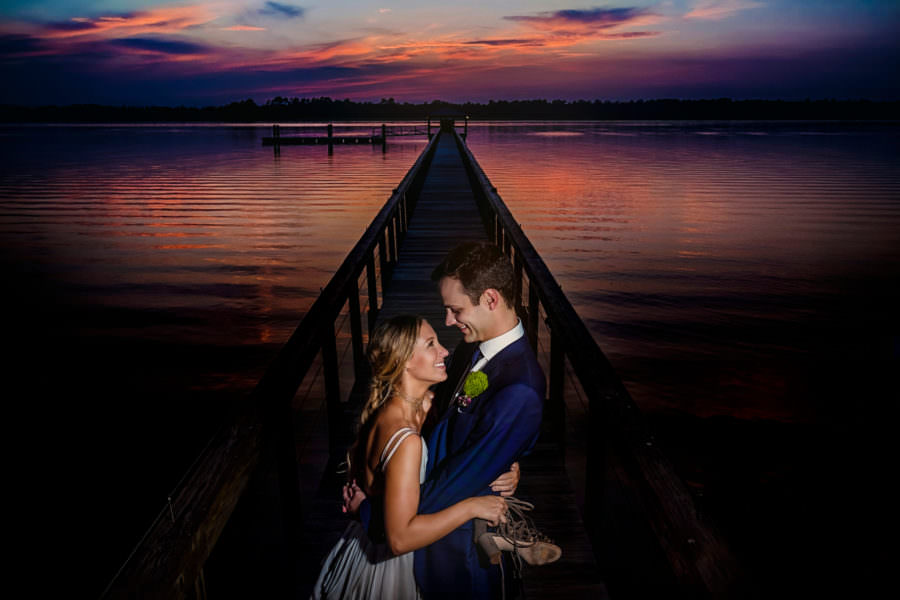 sunset lowndes grove charleston wedding