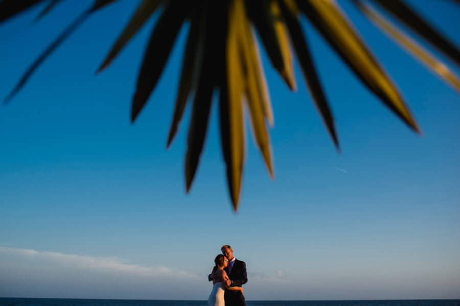 sunset wedding portrait kiawah resort